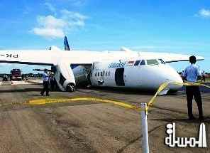 Passenger plane with 52 people on board crash-lands in eastern Indonesia
