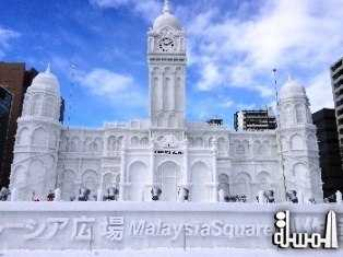 """FROZEN"" SULTAN ABDUL SAMAD BUILDING IS THE STAR ATTRACTION AT THE 65TH SAPPORO SNOW FESTIVAL, JAPAN"