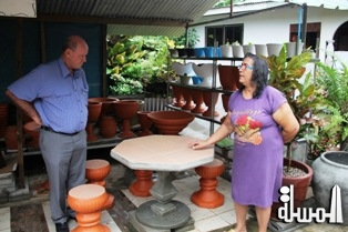 Pottery artisans received encouragement from Tourism & Culture Minister and seek more convenient selling points in Victoria to showcase their business
