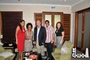 Ethiopian Airlines Manager based in Seychelles says thank you to Minister Alain St.Ange for working with the airline to open the Israel Tourism Market fro Seychelles