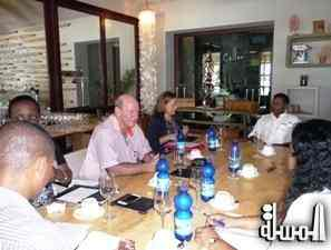 Ministers visit Desroches island and meet with Hotel Staff