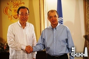 UN Secretary-General Ban Ki-moon's Statement to the Media following Bilateral Talks with President Michel, State House