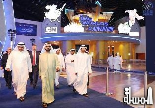 Mohammed bin Rashid tours IMG Worlds of Adventure, hails role of private sector