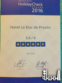 HOTEL LE DUC DE PRASLIN OF THE SEYCHELLES SINGLED OUT FOR HOLIDAYCHECK AWARDS 2016