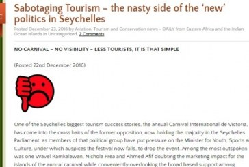 Sabotaging Tourism – the nasty side of the 'new' politics in Seychelles