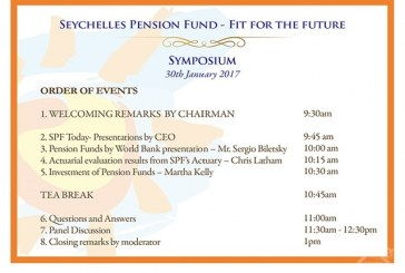 Seychelles Pension Fund organising a Symposium including World Bank presentation