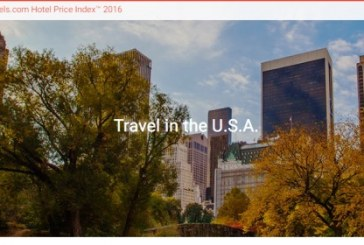 Hotels.com Reports Slight Increase in US Hotel Room Prices in 2016 with Savings for Americans Traveling Abroad