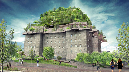 War relic with a green roof – Hillde<a href=