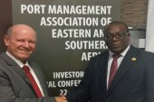 African Union's Auguste Ngomo meets Alain St.Ange of Seychelles