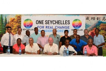 "Seychelles new political party ""One Seychelles"" being led by former Tourism Minister Alain St.Ange"