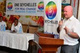 Seychelles opposition political party led by former Minister Alain St.Ange is followed by press in Kenya