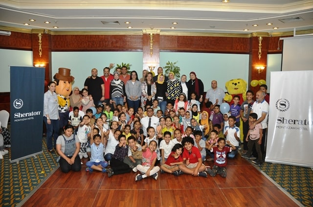 Joy and fun with the orphans at Sheraton Montazah