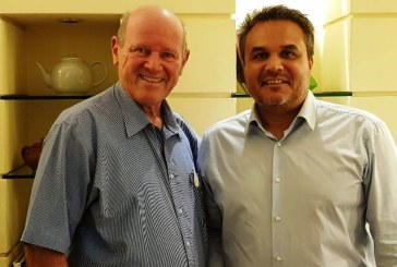 President Didier Robert of Reunion and former Seychelles Minister Alain St.Ange, the current President of African Tourism Board (ATB) meet and discuss Region and Continent's tourism