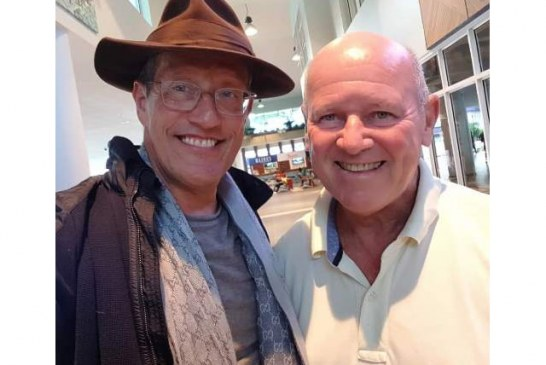 Alain St.Ange meets with Richard Quest of CNN during his working visit to Seychelles
