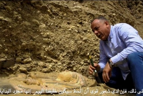 The first archaeological discovery on the Internet a guided tour by Dr. Mostafa Waziri, Secretary General of the Supreme Council of Antiquities