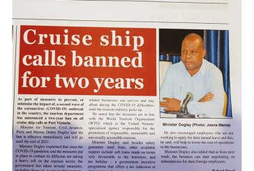 Seychelles announces ban of Cruise ships for two years