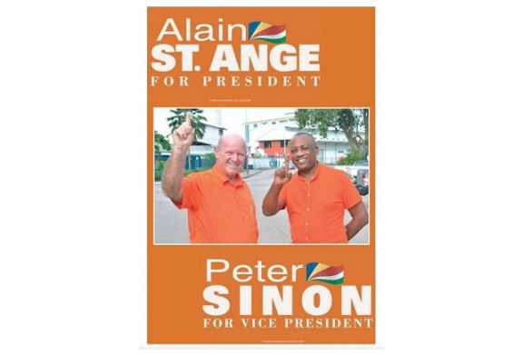 ONE SEYCHELLES NOMINATES ST.ANGE & SINON FOR COMING PRESIDENTIAL ELECTIONS