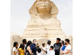 In the Land of Wonders.. Dreams Always Come True US Citizen Fulfills Lifelong Dream of Visiting the Pyramids