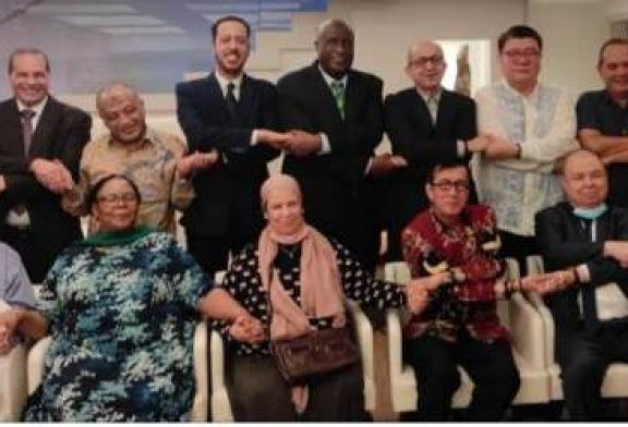 Alain St.Ange, the President of the African Tourism Board and former Seychelles Minister of Tourism at Eid Mubarak Friendship Dinner in Jakarta