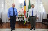 President receives Mr Alain St Ange at State House