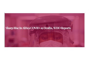 Sharp rise in Africa COVID-19 deaths, WHO reports