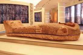 Ancient Pharaonic coffin arrives for display in Egypt Pavilion at Dubai Expo 2020